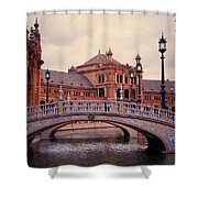 Plaza De Espana. Seville Shower Curtain by Jenny Rainbow