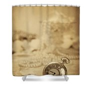 Pocket Watch Shower Curtain by Amanda And Christopher Elwell