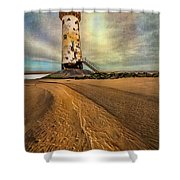 Point Of Ayre Lighthouse Shower Curtain by Adrian Evans