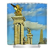 Pont Alexandre IIi Shower Curtain by Mountain Dreams