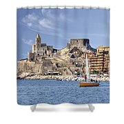 Porto Venere Shower Curtain by Joana Kruse