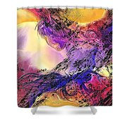 Presence Shower Curtain by Francoise Dugourd-Caput