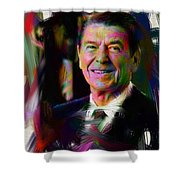 President Ronald Reagan Shower Curtain by Official White House Photograph