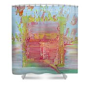 Psychedelic Object Shower Curtain by Fabrizio Cassetta