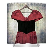 Red Dress Shower Curtain by Joana Kruse