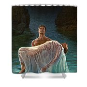 Resurrection Shower Curtain by Mia Tavonatti