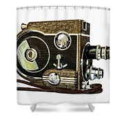 Revere 8 Movie Camera Shower Curtain by Jon Woodhams