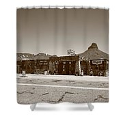 Route 66 - Cool Springs Camp Shower Curtain by Frank Romeo