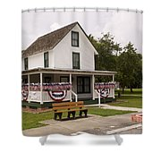 Ryckman House In Melbourne Beach Florida Shower Curtain by Allan  Hughes