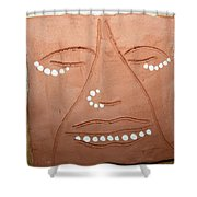 Samuel - Tile Shower Curtain by Gloria Ssali
