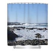 Sea Foam Shower Curtain by Barbara Snyder