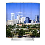 Skyline Of Uptown Charlotte North Carolina Shower Curtain by Alex Grichenko