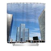 Skyscrapers Shower Curtain by Michal Bednarek