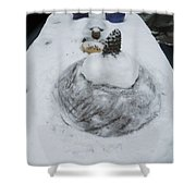Snow Fall Serie December 2012  Shower Curtain by Colette V Hera  Guggenheim