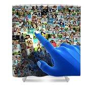 Social Media Network Shower Curtain by Michal Bednarek