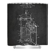 Space Capsule Patent from 1963 Shower Curtain by Aged Pixel
