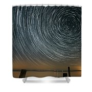 Star Trails 1 Shower Curtain by Benjamin Reed