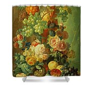 Still Life With Fruit And Flowers Shower Curtain by Jan van Os