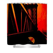 Sunset Shower Curtain by Jack Zulli