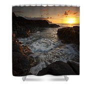 Sunset Pool Shower Curtain by Mike  Dawson