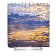 Sunset Sky Shower Curtain by Elena Elisseeva