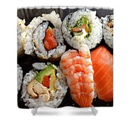 Sushi Shower Curtain by Les Cunliffe