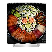 Sushi Party Tray Shower Curtain by Elena Elisseeva