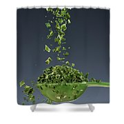 1 Tablespoon Chives Shower Curtain by Steve Gadomski