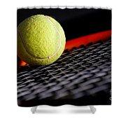 Tennis equipment Shower Curtain by Michal Bednarek