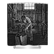 The Apprentice Monochrome Shower Curtain by Steve Harrington