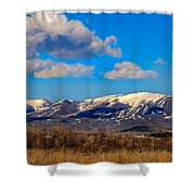 The Butte Shower Curtain by Robert Bales