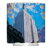 The Empire State Building Shower Curtain by Jon Neidert