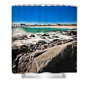 The Jersey Shore Shower Curtain by Paul Ward
