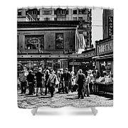 The Market At Pike Place Shower Curtain by David Patterson