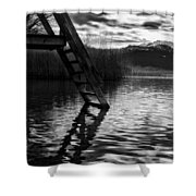 The Old Swimming Hole Shower Curtain by Mountain Dreams
