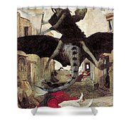 The Plague Shower Curtain by Arnold Bocklin
