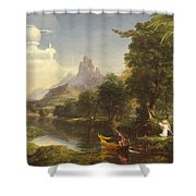 The Voyage Of Life Youth Shower Curtain by Thomas Cole
