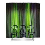 Three Shower Curtain by Margie Hurwich