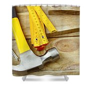 Tools Shower Curtain by Les Cunliffe