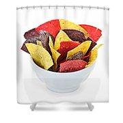 Tortilla Chips Shower Curtain by Elena Elisseeva