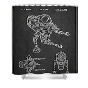 Toy Space Vehicle Patent Shower Curtain by Aged Pixel