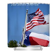 God Has Blessed America Shower Curtain by Connie Fox