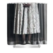 Waiting Shower Curtain by Joana Kruse