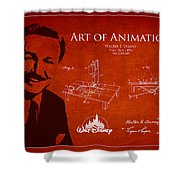 Walt Disney Patent From 1936 Shower Curtain by Aged Pixel