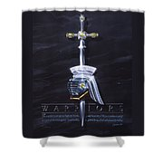 Warriors Shower Curtain by Cliff Hawley
