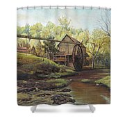 Watermill At Daybreak  Shower Curtain by Mary Ellen Anderson