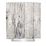 Weathered Paint On Wood Shower Curtain by Tim Hester