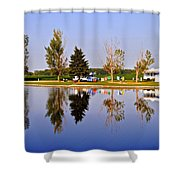 Which Way Is Up Shower Curtain by Frozen in Time Fine Art Photography
