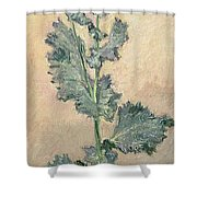 White Poppy Shower Curtain by Claude Monet