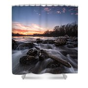 Wild River Shower Curtain by Davorin Mance